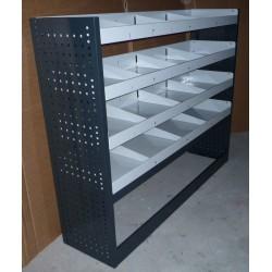 Equipamiento de taller móvil con estanterías y cajones para furgonetas