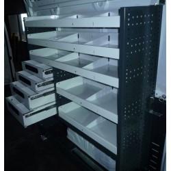 Accesorio de equipamiento y mueble para furgoneta industrial