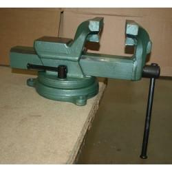 Tornillo de banco 100 mm en acero forjado y base giratoria