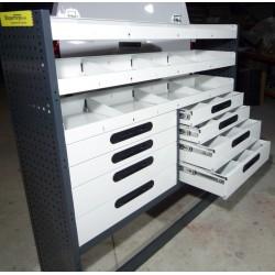Accesorio para furgonetas para equipamiento de taller móvil