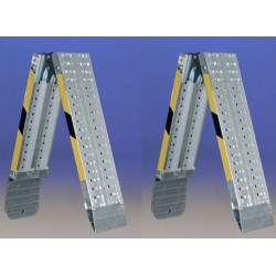 Rampas de aluminio plegables de 2 metros y Hasta 950 kilos de carga