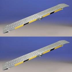 Rampas de aluminio plegables de 2,5 metros y Hasta 600 kilos de carga
