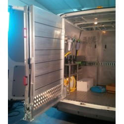 Rampa giratoria 2 metros X 80 centímetros de aluminio, instalable y 700 kilos de carga