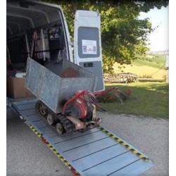 Rampa de aluminio plegable de 2,5 metros, 1 metro de ancha y hasta 800 kilos de carga