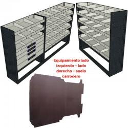 Lote equipamiento completo para Iveco Daily L2 (9 m³ y 10,8 m³)