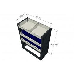 Equipamiento para furgonetas industriales, furgones y taller móvil