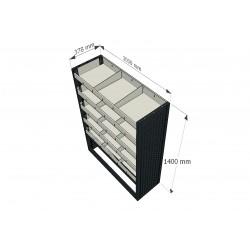 Instalación 1030 x 1400 mm estantes para furgoneta taller móvil
