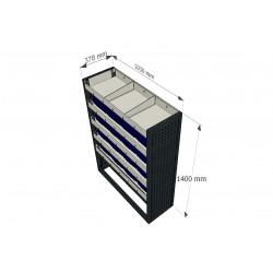 Accesorios para furgoneta para equipamiento de taller móvil
