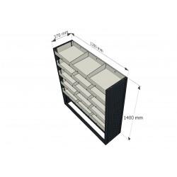 Mueble para equipamiento de furgoneta taller y furgón industrial