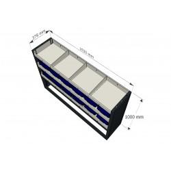 Mobiliario de equipamiento taller para furgoneta y vehículo taller